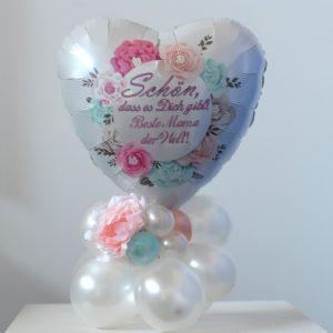 Tischdekoration-Ballondeko-zum-Muttertag-Schoen-dass-es-dich-gibt-Beste-Mama-der-Welt